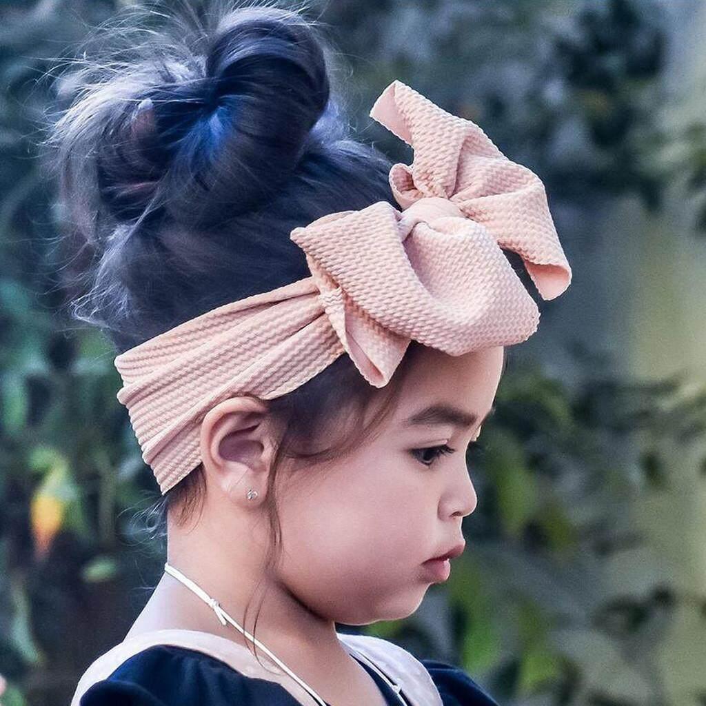 40c3c89418 Z-1Pc Baby Toddler Girl Bowknot Headband Stretch Hairband Headwear-Free  shipping