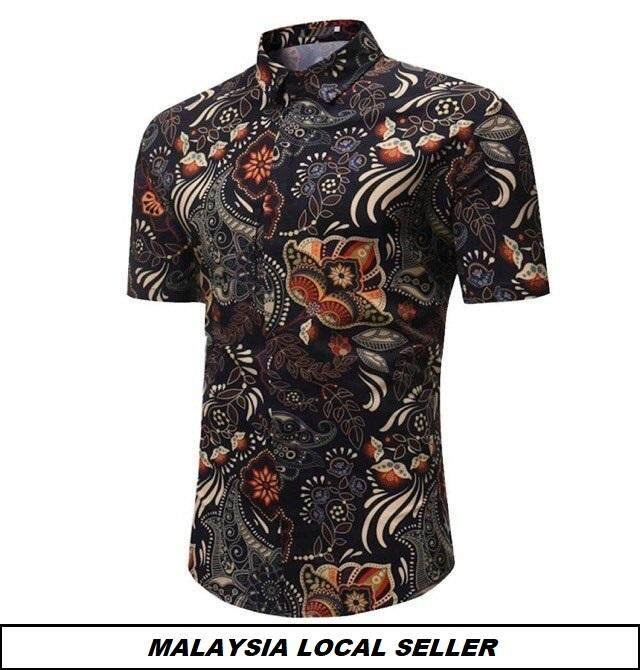 Local Seller  Code-01 Men Casual Shirt Short Sleeve Kemeja Batik Songket  Lelaki 91957704d3