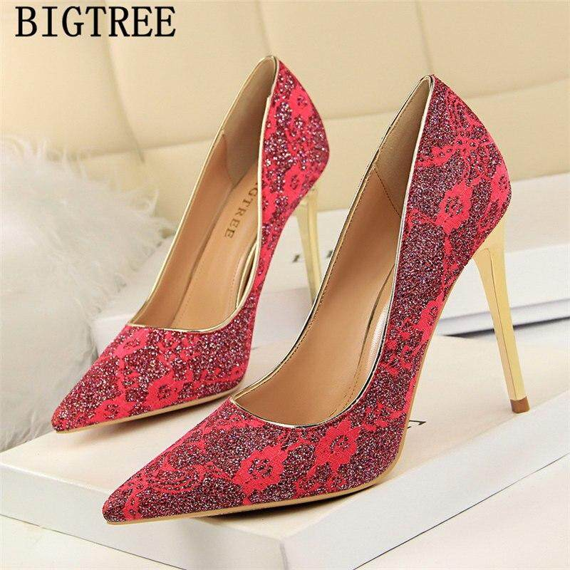 2018 Pointed Head Ladies High Heel Stiletto Buckle Womens Shoes Patent Leather Red Wedding Shoes 6cm Low To Help Cats Keep You Fit All The Time Other