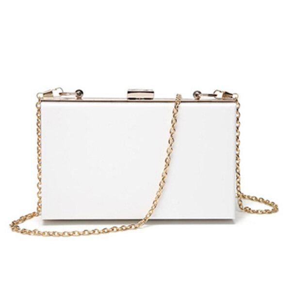 Women Clutch Acrylic Evening Handbag Shoulder Cross-Body Purse Bag for Casual Party Wedding Hangbag