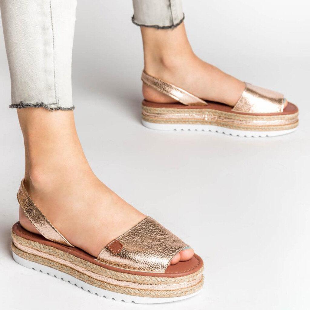 Quiny Shoes Cod Local Women Ladies Fashion Casual Big Size Platform Wedges Sandals Roman Shoes Shoes For Women.
