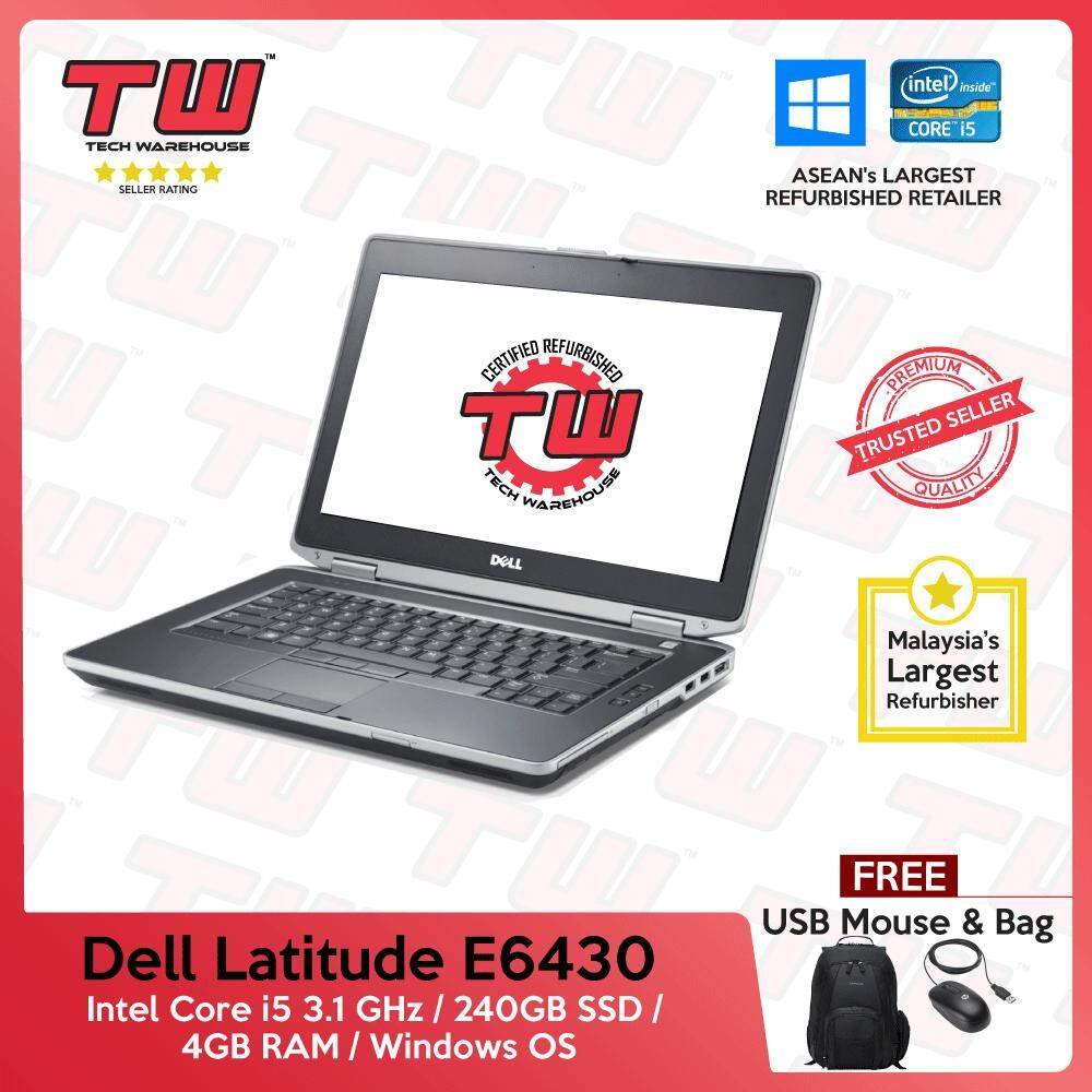 Dell Latitude E6430 Core i5 3rd Generation / 4GB RAM / 240GB SSD / Windows OS Laptop / 3 Month Warranty (Factory Refurbished) Malaysia