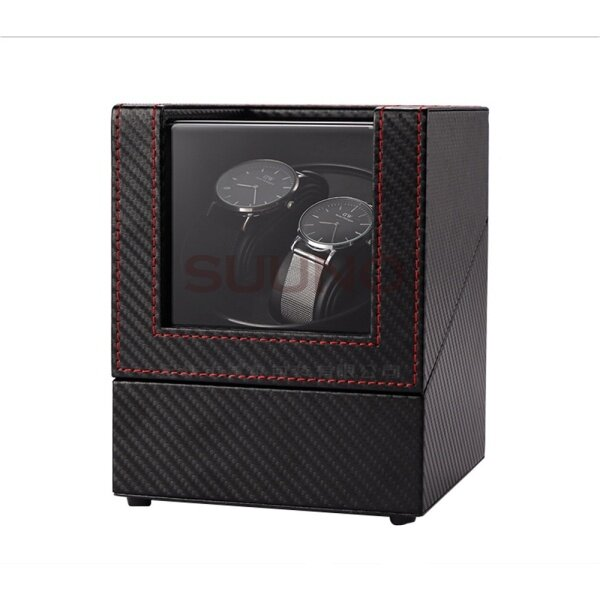 Watch Winder Carbon Fiber Premium Auto Watch Winder Watch Shaker Automatic Rotate Watch Box PU Leather Malaysia