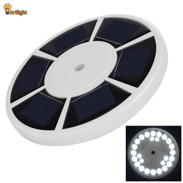 26 Đèn LED Cột Cờ Năng Lượng Mặt Trời, Đèn Chiếu Sáng Ban Đêm Tự Động Bật/Tắt Cột Cờ Thời Tiết
