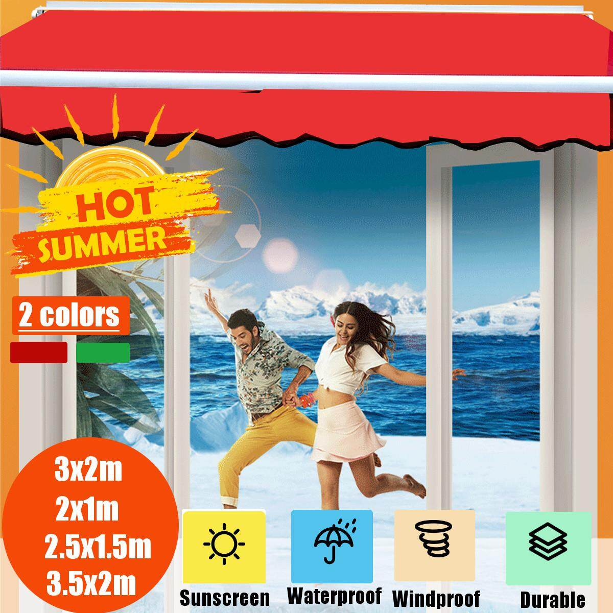 Sunshade Sail Shop Retractable Canopy Outdoor Folding Waterprooof Awning Cover Sunscreen