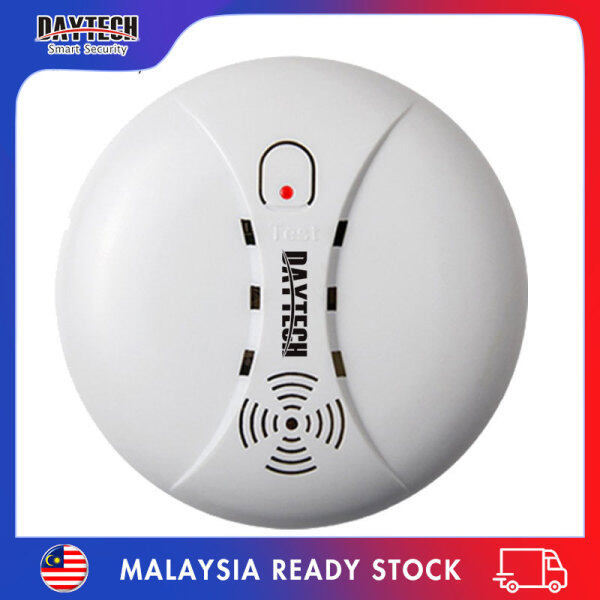 [Malaysia Ready Stock]Daytech Fire Smoke Detector Sensor Portable Independent Fire Alarm Sensor Battery Operation for Home/Office/Mall/Hotel/Restaurant SM02