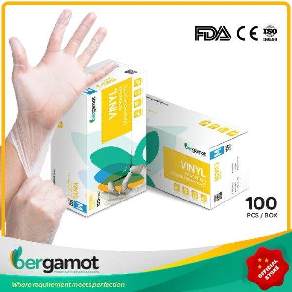 V3243 Bergamot Food Grade Vinyl Disposable Gloves 100pcs | Powder Free