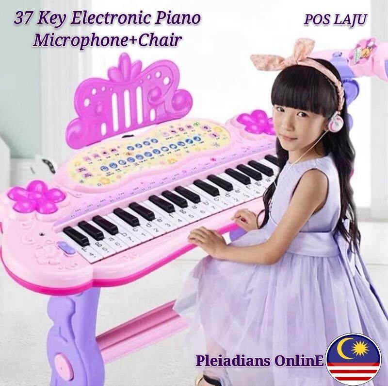READY STOCK Musical Toys Electronic Keyboard  Piano Set With Microphone Malaysia