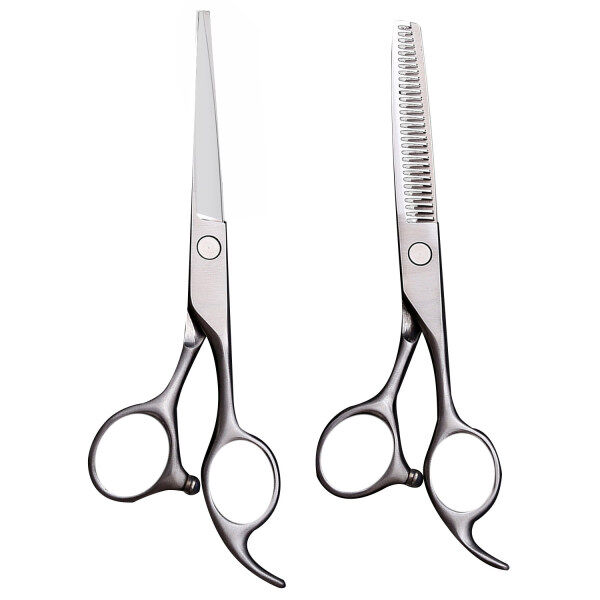 Buy 【in stock】Elek 2 PCS Home Barber Hair Grooming Thinning Shears Straight Cutting Scissor Comb Tool Set Singapore