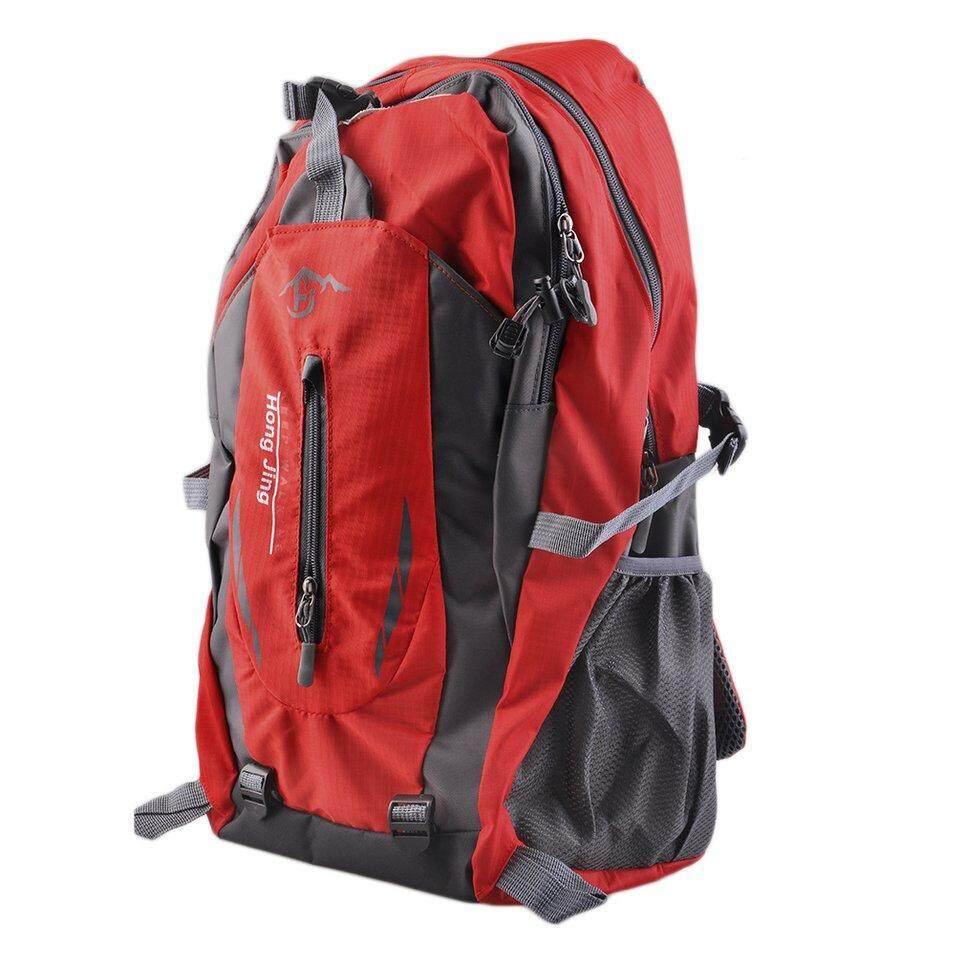 Selamat Gunung 40 Liter Air Tas Bahu Nilon Adapula Perjalanan Hiking Ransel Merah-Internasional |
