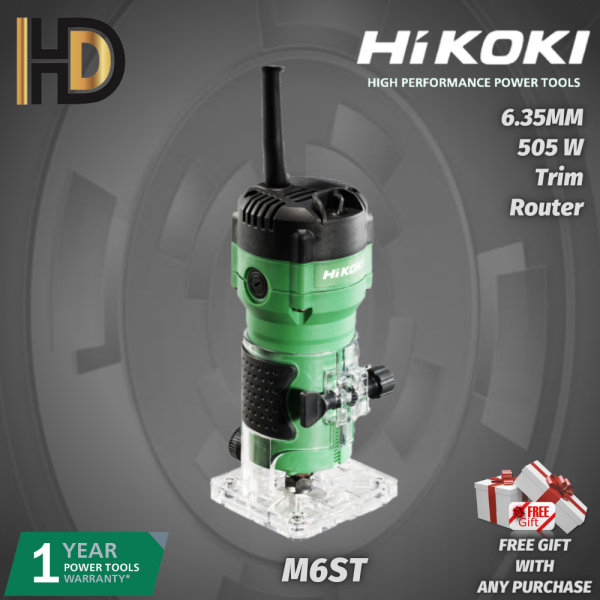 HIKOKI M6ST 6.35mm Trim Router