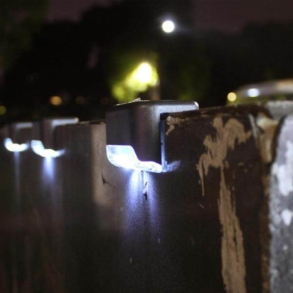 [Chinatera] 4 chiếc Đèn LED năng lượng mặt trời Đèn hàng rào bậc thang sân vườn ngoài trời chống nước IP65