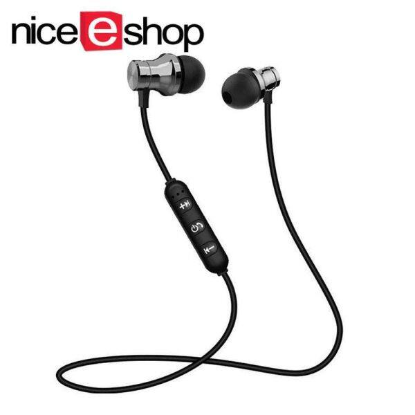 NiceEshop XT-11 Magnetic Wireless Bluetooth Earphone music Phone headset Neckband sport Earbuds Headset with Mic For iPhone Android Singapore