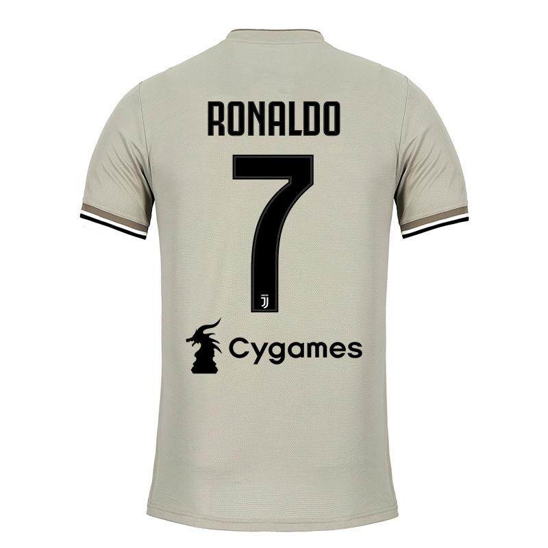 68fe304b20a Top Quality With Sponsor Cygames Ronaldo NO.7 Juventus Home and Away and  3rd Football