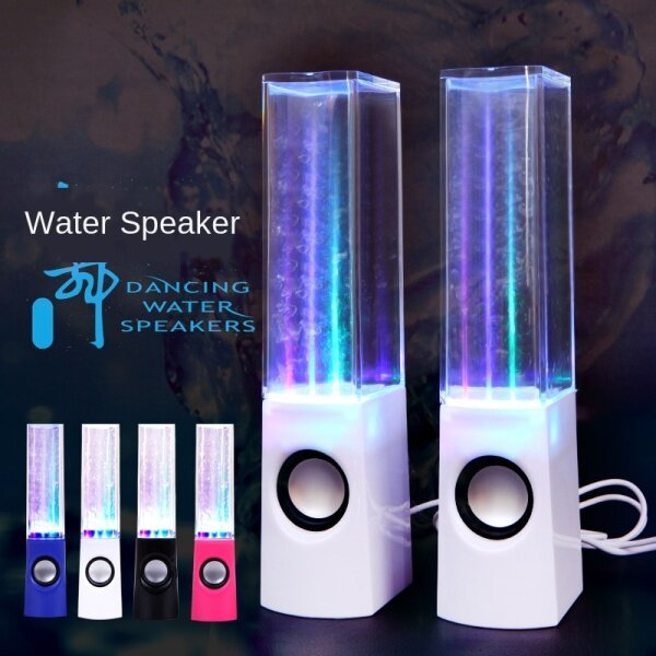 [Enter the store to receive coupons] creative intelligent fountain acrylic square LED colorful computer audio water dance speaker speaker Malaysia