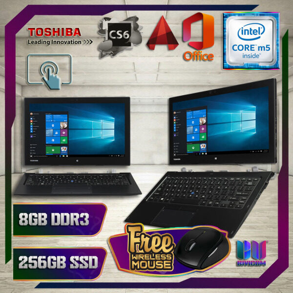 TOSHIBA PORTEGE ULTRABOOK Z20T SURFACE DESIGN FHD TOUCHSCREEN - INTEL CORE M5 5TH GENERATION / 8GB DDR3 RAM / 256GB SSD / 12 INCH FHD TOUCHSCREEN / WINDOW 10 PRO / TABLET PC LAPTOP [ FREE GIFT ] Malaysia