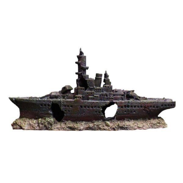 Mô phỏng tàu đắm Thuyền trang trí bể cá chìm rỗng tàu chiến tàu thủy trang trí cảnh quan