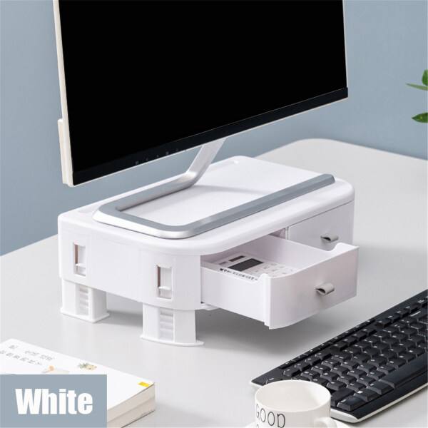 New Adjustable Computer Screen Desktop Stand Slip Resistance Monitor Riser Stand Monitor Mount Display Organizer with Drawer for Computer Monitor Laptop 36x22x8cm Malaysia