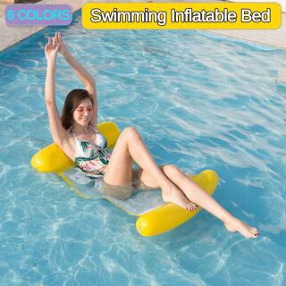 Bơi Nổi Giường, Giường Nổi Nước Mùa Hè Nước Inflatable Võng Bán Sỉ Ghế Phơi Nắng Bơm Hơi Cho Người Lớn, Dùng Cho Bơi Thể Thao Dưới Nước Có Thể Chịu Được 120 Kg thumbnail