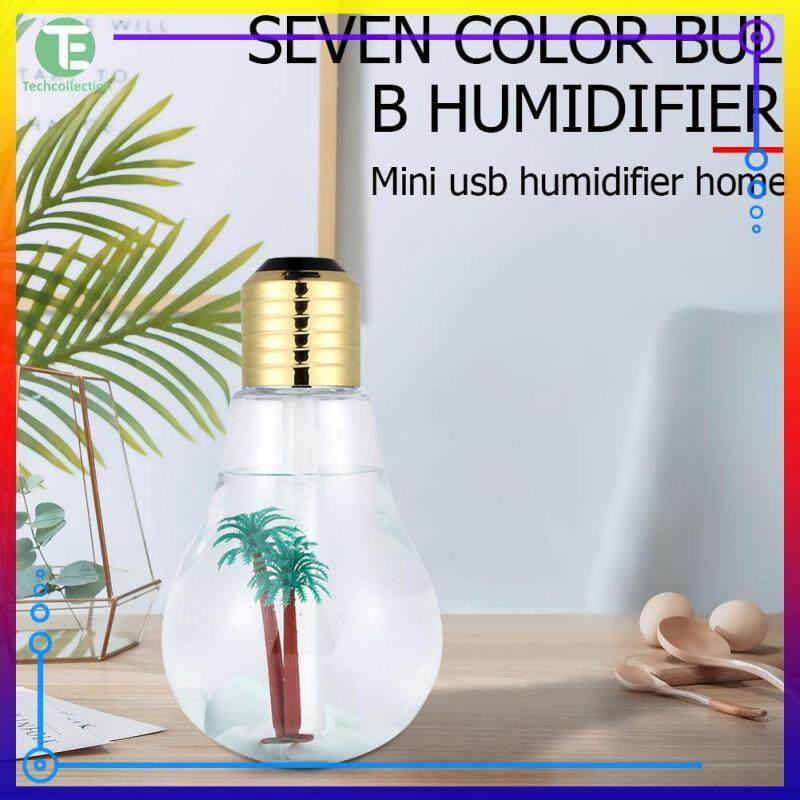 Household 7 Color Atmosphere Night Lamps Practical USB Air Humidifier Bulb Shape Car Air Purifier Singapore