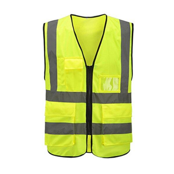 Terbaik Terbaik Multi-Pocket Vest Reflektif Menunggang Trafik Vest Keselamatan Kereta Api Arang Batu Vest