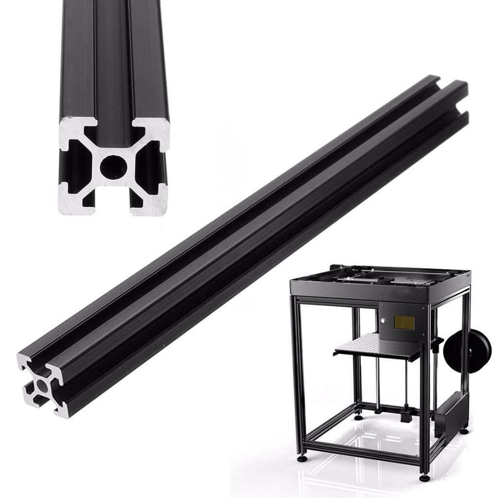 Blesiya 2Pcs T-Slot Aluminum Profiles Extrusion Frame For 3D Printer Black 60cm