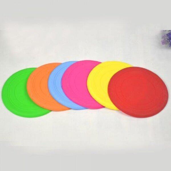 Rắn Màu Mới Silica Gel Mềm Frisbee Pet Frisbee Chó Đồ Chơi Cắn Không Độc Hại Đồ Chơi Đào Tạo Ngoài Trời