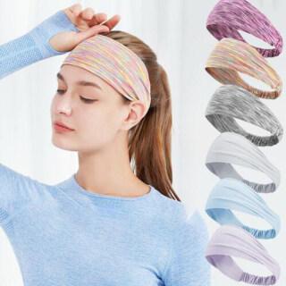New Thể Thao Headband Băng Đô Thấm Mồ Hôi Tập Yoga Thể Dục Chạy Bộ Ngoài Trời Khăn Trùm Đầu Nam Nữ Co Giãn Cao Màu Chất Chống Mồ Hôi Vành Đai (Có Độ Đàn Hồi) thumbnail