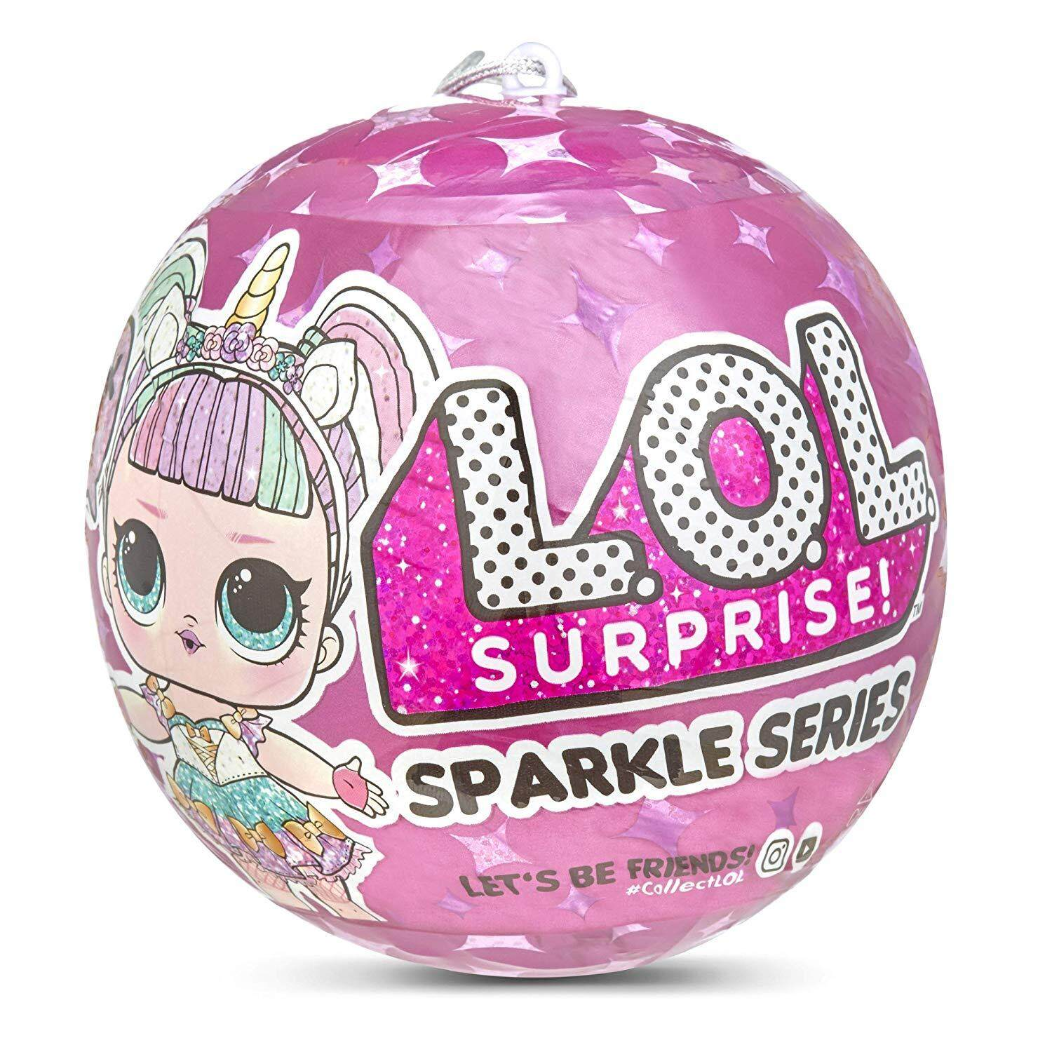 Surprise Dolls Egg Sparkle Series Mysterious Doll Full of Adventure Balls(Purple Unicorn)