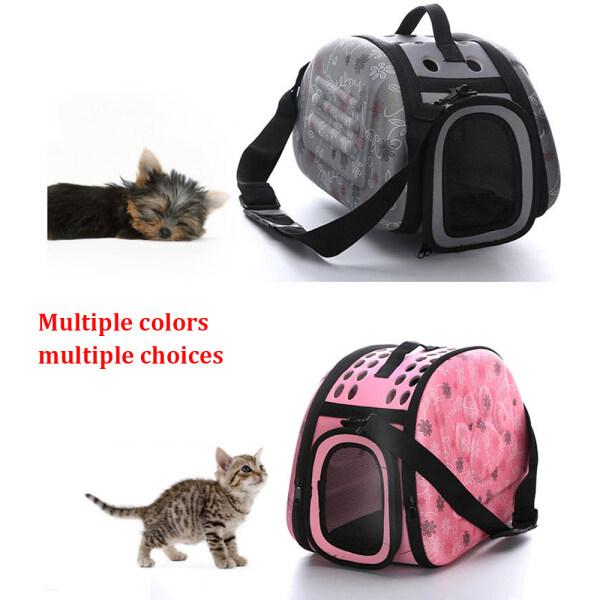 Túi Đựng Thú Cưng Màu Xám Đơn Sắc Di Động Mèo Ngoài Trời Có Thể Gập Lại Túi Du Lịch Thú Cưng Mang Túi Đeo Vai