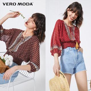 Vero Moda Áo Voan Nữ Thêu Chấm Bi Phong Cách Ins 320258509 thumbnail