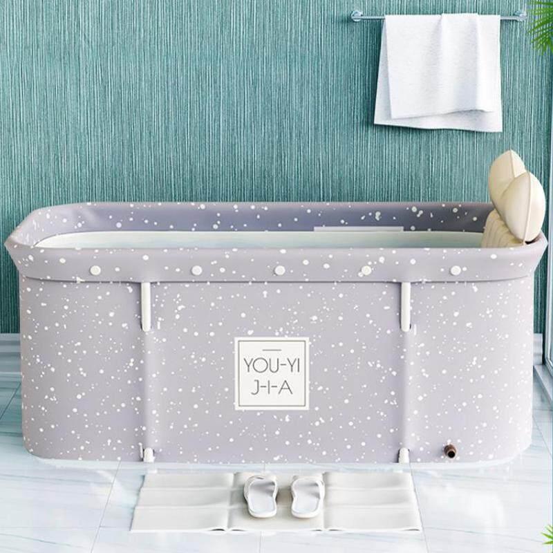 Buy Portable folding bathtub Movable lightweight and sturdy non-slip cylindrical barrel bathtub Family children bathtub Adult bathtub Student bathtub Family plunge pool Indoor spa bath Singapore