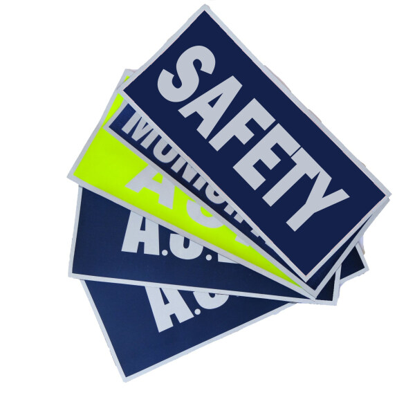 Safety Badge Stick on PPE Velcro Ready👷🏽♂️ Reflective Blue High Visibility