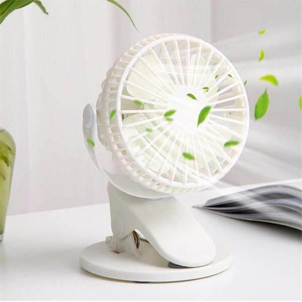 Clip-on Mini USB Desk Fan Summer Small 360° Air Cooler Rechargeable Table-Top Baby Pushchair Fan Singapore