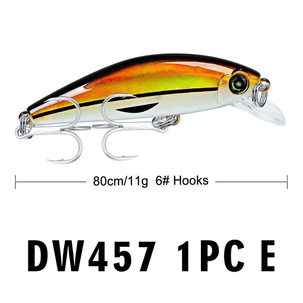Chesy 8cm/11g Lure Fishing Baits PROBEROS Lu Ya lure 8cm chubby plastic  bait 11g black fish fishing supplies