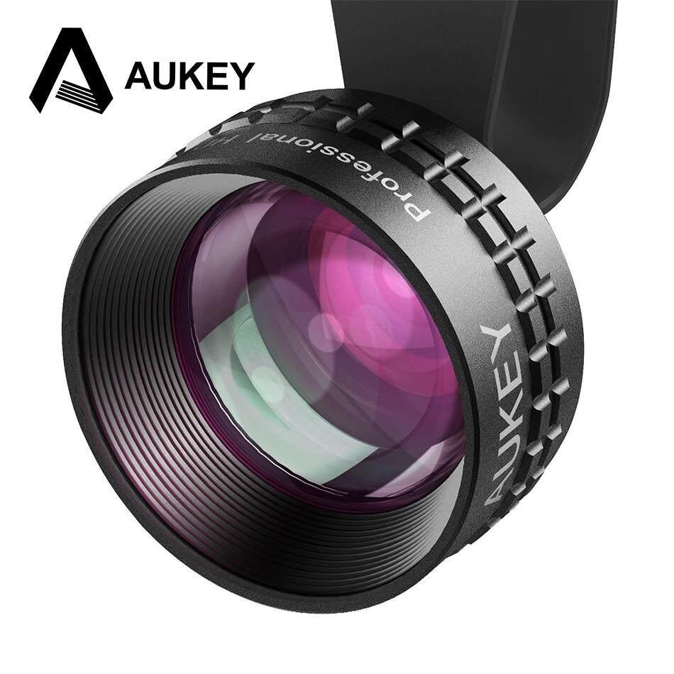 Aukey PL-BL01 Quang Pro 2X HD Điện Thoại Điện Thoại Máy Ảnh Ống Kính Bộ 2X LÀ Gần Gũi Không Bị Biến Dạng Không Đậm vòng tròn cho Iphone HTC Samsung