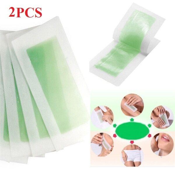 2 Miếng Giấy Sáp Lạnh Tẩy Lông Hai Mặt Dùng Cho Lông Mặt Chân Cơ Thể nhập khẩu