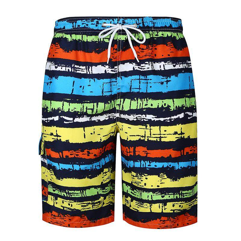 Shorts Men Colorful Striped Beach Pants Casual Mens Shorts Loose Fitness Clothing Summer By Lonmmy Official Store.