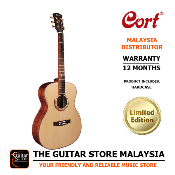 Cort Abstract LE Limited Edition OM Premium Full Solid Acoustic Guitar Natural Gloss LR Baggs Anthem Preamp Pickup With Hard Case Malaysia