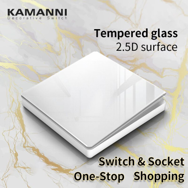 KAMANNI switch socket wall modern official store UK universal  3 pin plug with usb Suiz on Off for Lampu 1/2/3/4 Gang 1/2 Way 20A Water Hearter Aircon Door Bell ABBLW