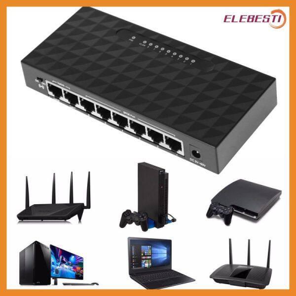Giá [Elebest1] 8-Cổng Gigabit Bộ Chuyển Đổi Mạng, 10/100 / 1000 Mbps Gigabit Chuyển Đổi Mạng Ethernet Bộ Chuyển Đổi Mạng, Cao-Hiệu Suất Ethernet Công Tắc Thông Minh
