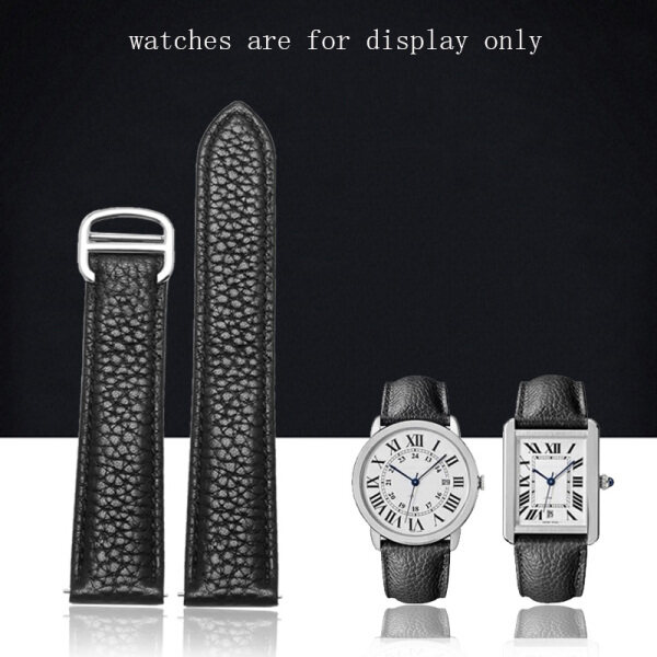 PEIYI Litchi grain leather cowhide watch strap apply to  WSTA0028/W5200014 Leather bracelet /unisex 17mm/20mm/23mm/25mm Malaysia