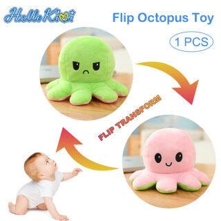 HelloKimi Thú nhồi bông hình bạch tuộc 2 mặt biểu cảm độc đáo dùng làm quà cho các bé - INTL thumbnail