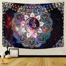 LoveBox 1 Tấm Thảm Mandala Treo Tường Tấm Thảm Đêm Mặt Trăng Hippie Ảo Giác Trang Trí Nhà Cửa 95*73Cm