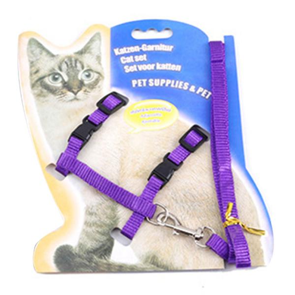 Pet Cat Dây Xích Và Khai Thác Đặt Đi Bộ Chó Con Nhỏ Chó Con Mèo Con Dây Đeo Chì Có Thể Điều Chỉnh