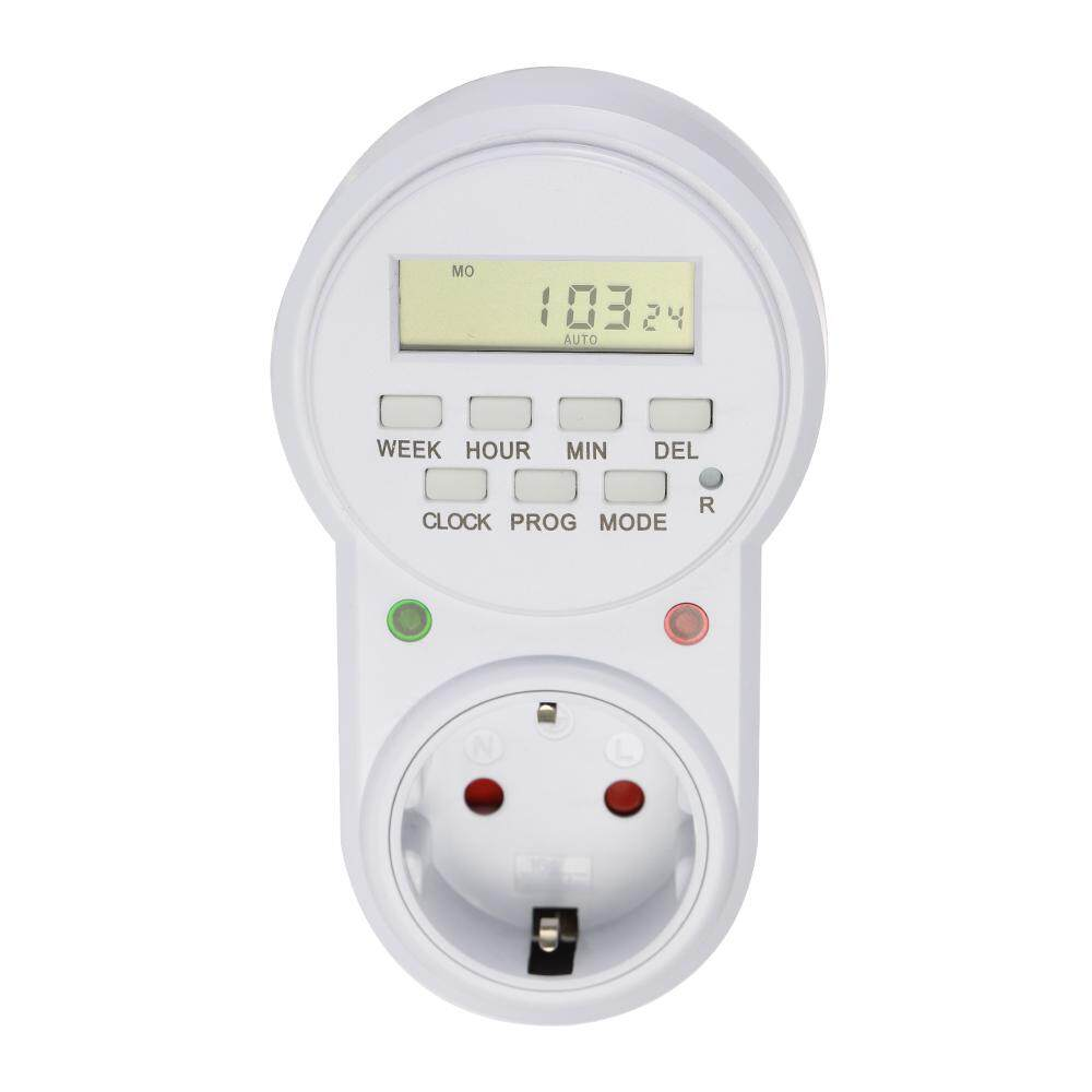 EU Plug Smart Power Socket Digital Timer Switch Energy Saving Adjustable Programmable Setting of Clock On Off Time