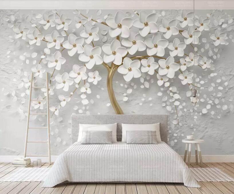 3D Wallpaper Vinyl Wall Sticker Romantic Tree Wall Mural Living Room Bedroom Luxury Decor Wall paper