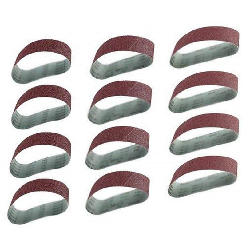 12Pcs/Set Grinding Sanding Belts 40/80/120 Grit Aluminum Oxide 533 X 75Mm for Sander Polishing Replacement Machine Abrasive Tool