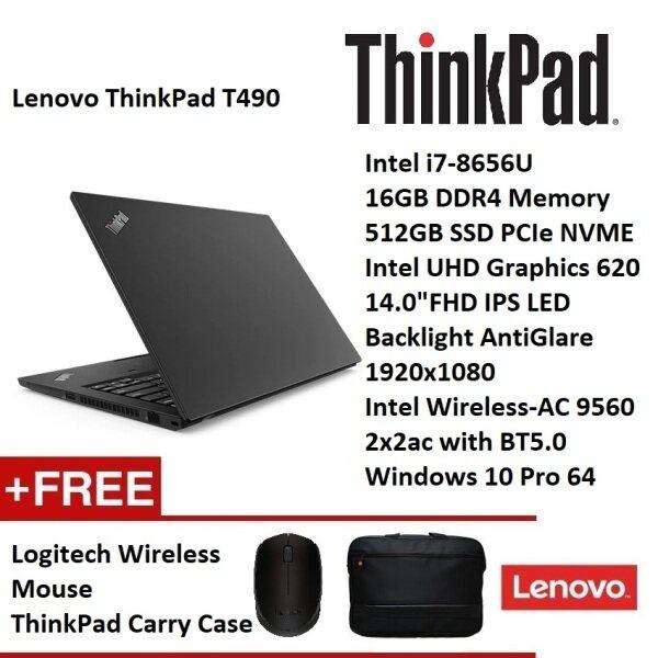 Lenovo ThinkPad T490 Notebook   (i7-8565U.16GB.512GB.W10P.14 FHD IPS 1.46kg ) [DISPLAY UNIT, 99% NEW Lenovo Official Warranty]] Malaysia
