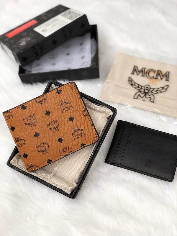 806ac37720f MCM wallet original classic men s business casual multi-card crotch  compartment brown